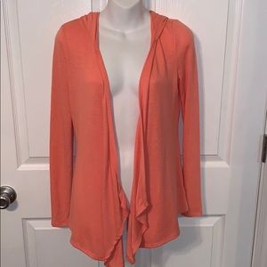 Coral hooded cardigan